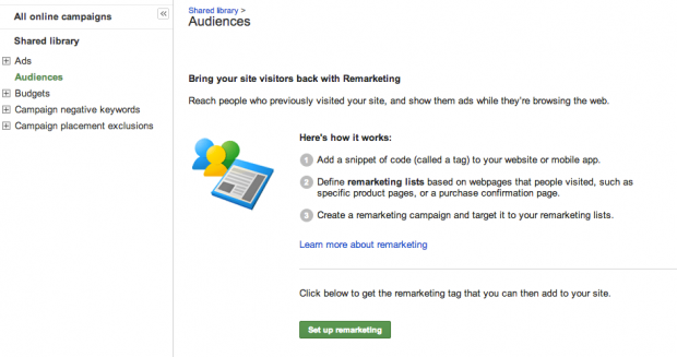 Remarketing Set up
