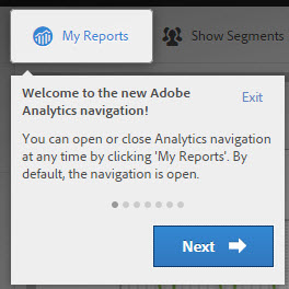 Ny navigation i Adobe Analytics