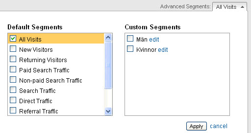 Custom Segments i Google Analytics